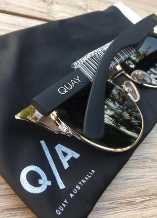 Стильные актуальные очки quay australia 🇦🇺 тренд хамелеон кошачий глаз zara h&m3 фото
