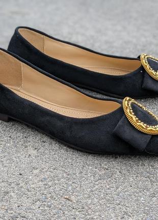 Балетки туфли женские черные