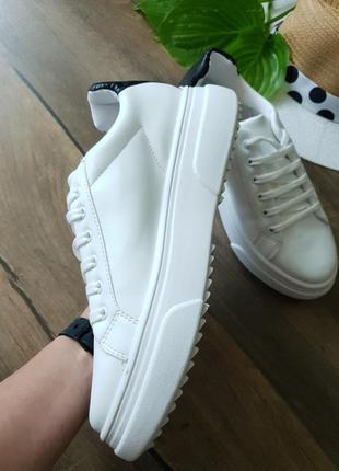 Кроссовки белые topshop, англия 40размер4 фото
