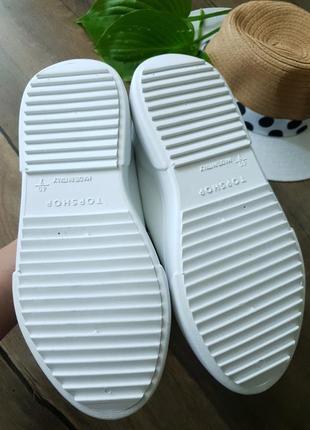 Кроссовки белые topshop, англия 40размер6 фото