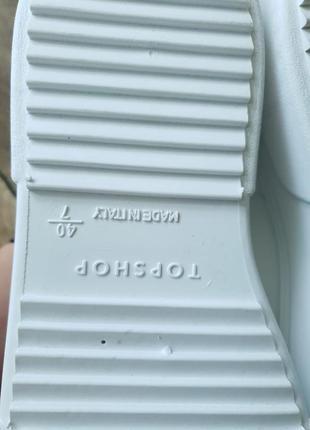 Кроссовки белые topshop, англия 40размер7 фото