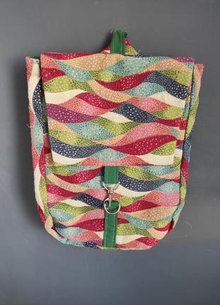 Рюкзак яркий цветной, рюкзак в стиле пэчворк, рюкзак из ткани