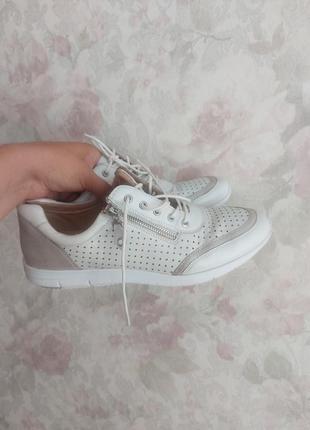 Женские кроссовки фирменные кроссовки туфли на шнурках натуральная кожа