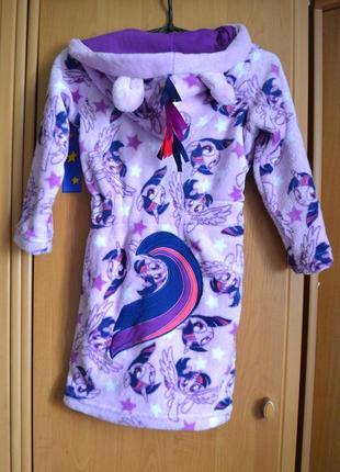 Халат на девочку 5-6 лет, халат пони
