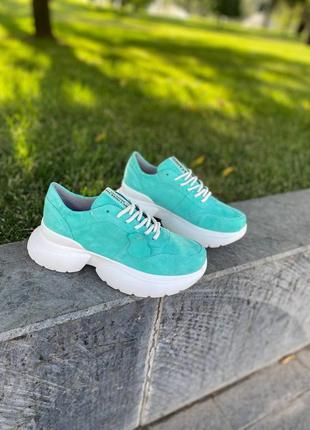 Замшевые кроссовки, размер 36-40