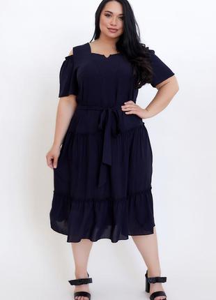 Платье женское натуральное штапельное размеры: 50-56
