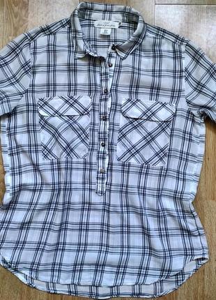 Легкая рубашка (100% тонкий хлопок) h&m ,р.l