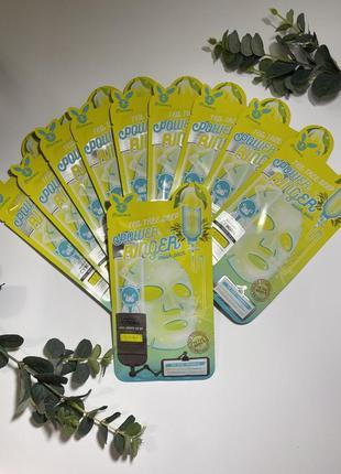 Успокаивающая тканевая маска для лица с экстрактом чайного дерева elizavecca tea tree deep power ringer mask pack
