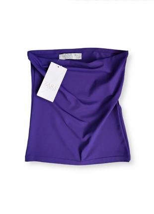 Женский фиолетовый топ zara размер м