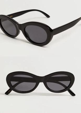 🛍 новые чёрные очки mango в упаковке