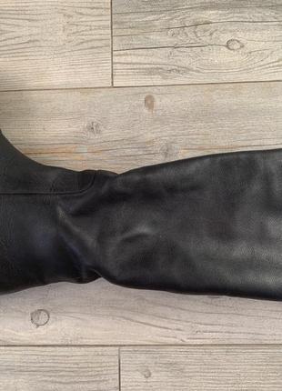Сапоги-трубы демисезонные кожаные