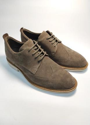 Замшевые туфли ecco классика туфлі чоловічі діловий стиль3 фото