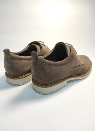 Замшевые туфли ecco классика туфлі чоловічі діловий стиль4 фото