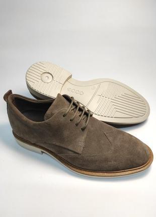 Замшевые туфли ecco классика туфлі чоловічі діловий стиль5 фото