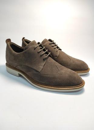 Замшевые туфли ecco классика туфлі чоловічі діловий стиль1 фото