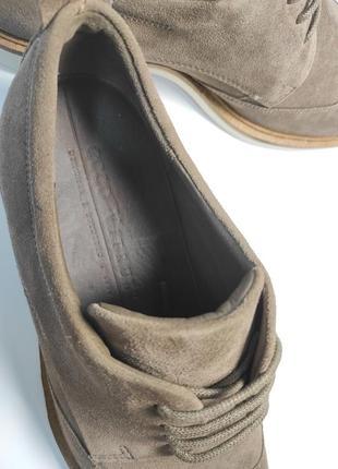 Замшевые туфли ecco классика туфлі чоловічі діловий стиль7 фото