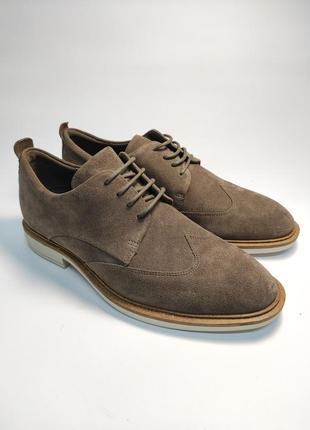 Замшевые туфли ecco классика туфлі чоловічі діловий стиль6 фото