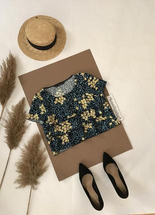 Модный топ зара с цветочками. распродажа