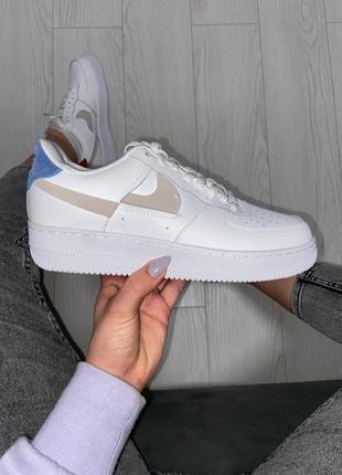 Nike air force low white кроссовки найк женские аир форс кеды обувь взуття