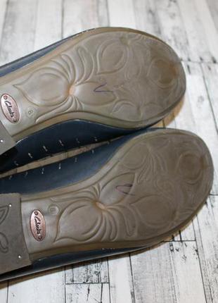 Кожаные туфли балетки clarks6 фото