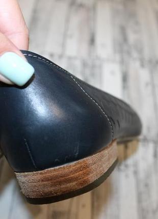 Кожаные туфли балетки clarks4 фото