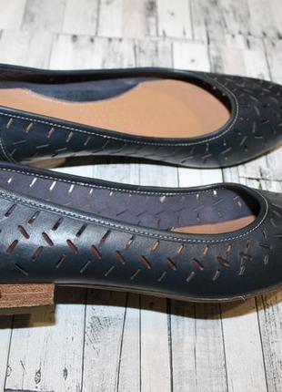 Кожаные туфли балетки clarks2 фото