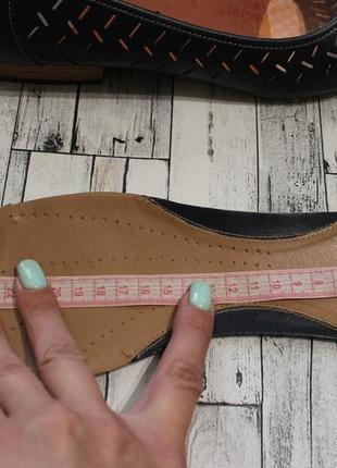Кожаные туфли балетки clarks7 фото