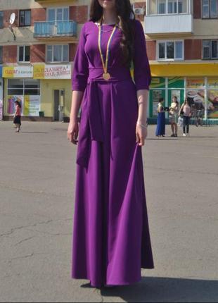 Випускне вечірнє плаття сукня фіолетова выпускное платье
