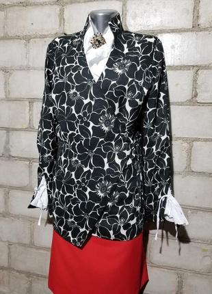 Красивый стильный кардиган жакет пиджак блуза на запах лен