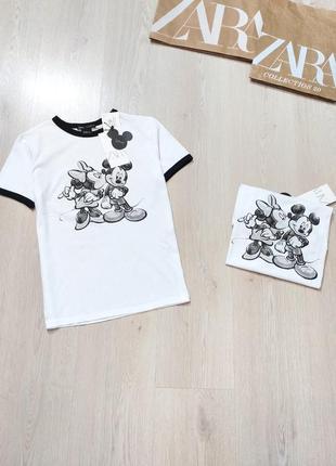 Распродажа!!!футболка с mikki disney zara  s ,m