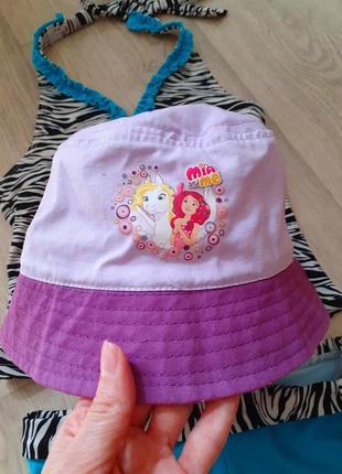 Панамка шляпка пляжная на девочку