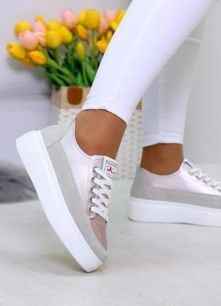 Світлі рожеві сірі жіночі кросівки, кеди кріпери натуральна шкіра - замша .светлые розовые серые женские кроссовки кеды криперы натуральная кожа9 фото