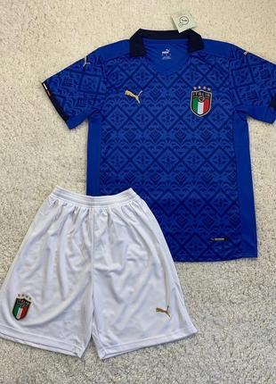 Детская футбольная форма сборной италии, евро 2020 (основная)
