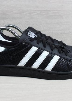Черные кроссовки adidas superstar оригинал, размер 38.5 - 39