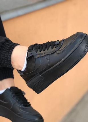 Nike air force shadow black кроссовки найк аир форс кеды обувь