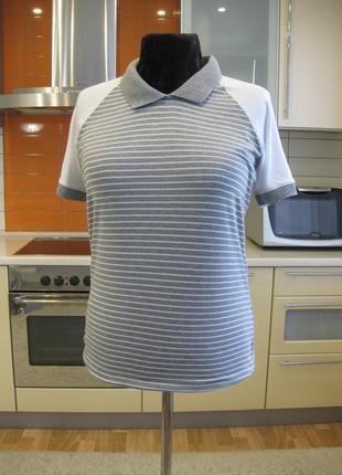 Шикарная натуральная футболка в полоску !!!