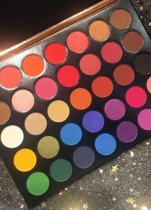 ❤️💛💙радужная палетка теней для век beauty glazed color studio eyeshadow palette (35 color)3 фото