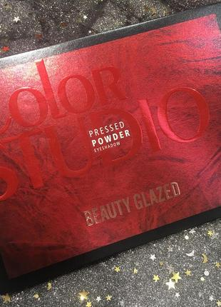❤️💛💙радужная палетка теней для век beauty glazed color studio eyeshadow palette (35 color)4 фото