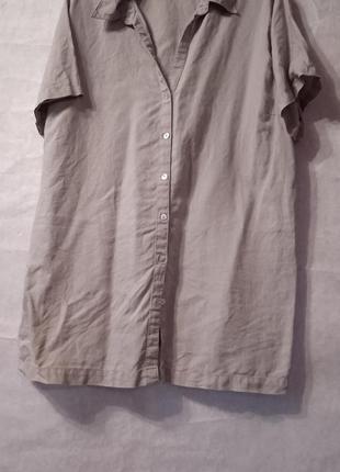 Брендовая льняная рубашка удлиненная.