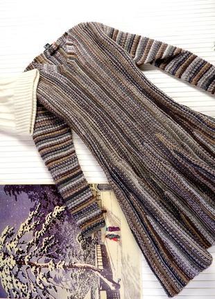 Платье зимнее вязаное шерстяное шерсть теплое м l австрия женское ручная работа