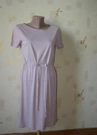 H&m актуальное платье пудра 100% вискоза s-размер