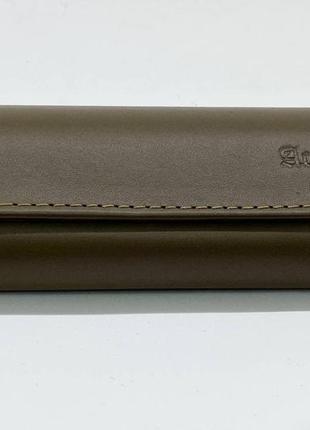 Футляр чехол для очков из натуральной кожи компактный на магните классический футляр для окулярів9 фото