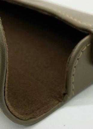 Футляр чехол для очков из натуральной кожи компактный на магните классический футляр для окулярів4 фото