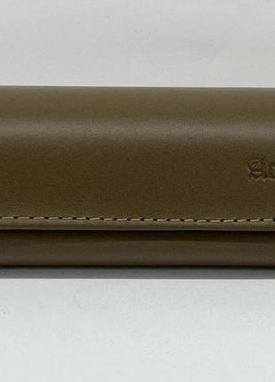 Футляр чехол для очков из натуральной кожи компактный на магните классический футляр для окулярів5 фото