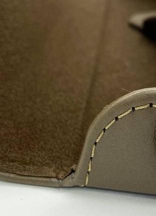 Футляр чехол для очков из натуральной кожи компактный на магните классический футляр для окулярів6 фото
