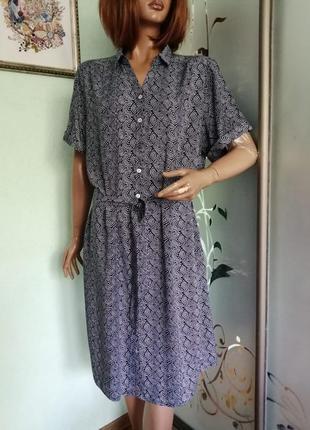 Штапельное платье рубашка damart