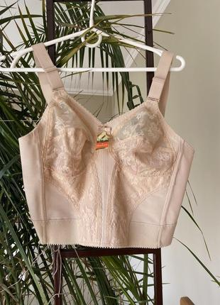 1960's triumph international doreen long line bra nude