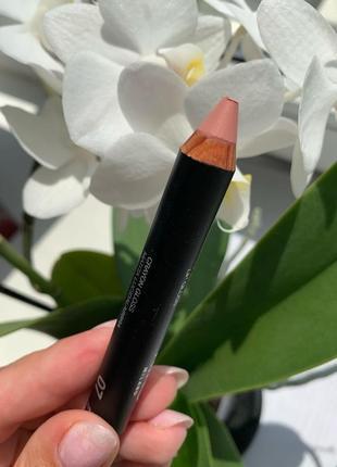 Нюдовая помада карандаш с эффектом блеска kiko milano lip pencil