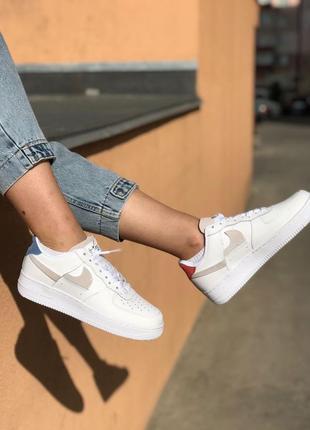 Nike air force white кроссовки найк женские форсы аир форс кеды обувь взуття