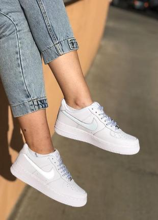 Nike air force white reflective кроссовки найк аир форс кеды обувь